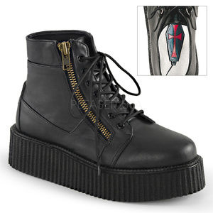 Mens Platform Lace Up Oxford Creeper Boots